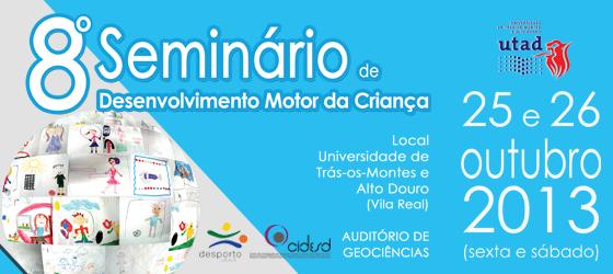 Banner: 8º Seminário de Desenvolvimento Motor da Criança