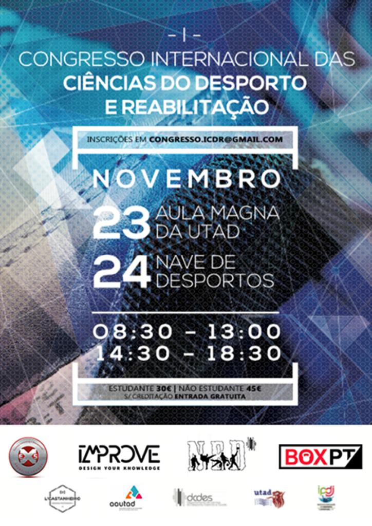 Cartaz: Congresso Internacional das Ciências do Desporto e Reabilitação