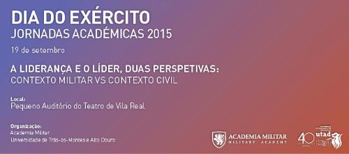 Banner: Dia do Exército - Jornadas Académicas 2015
