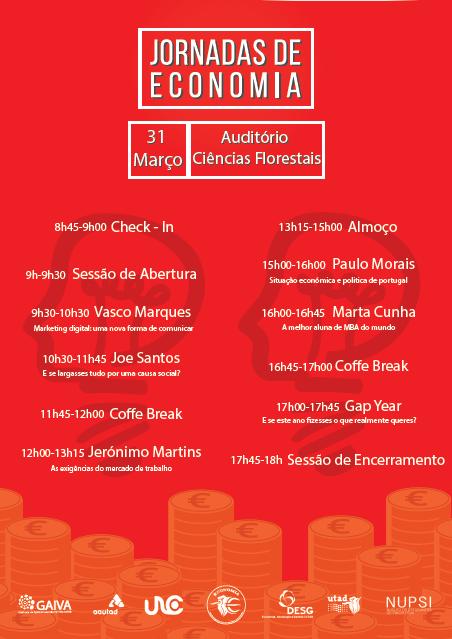 Cartaz: Jornadas de Economia