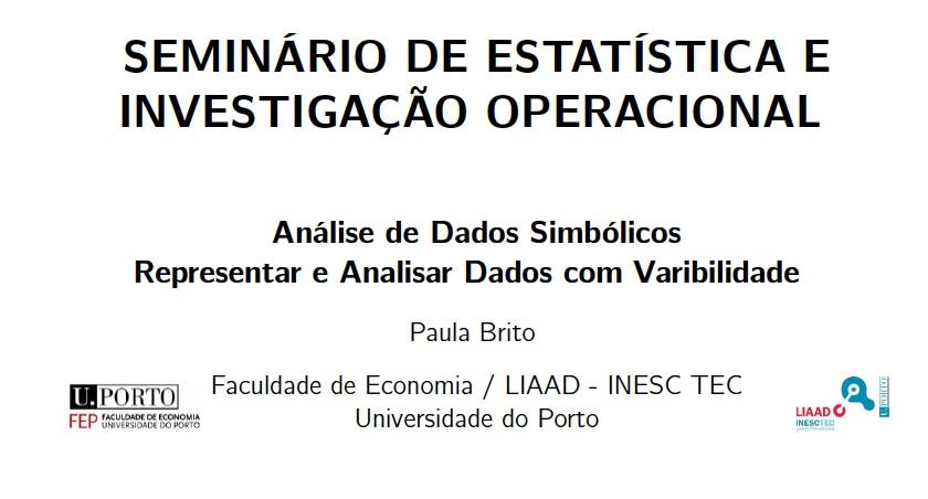 Banner: Seminário de Estatística e Investigação Operacional