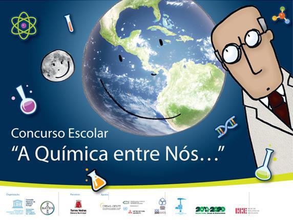 "Cartaz: Concurso Escolar ""A Química entre nós..."