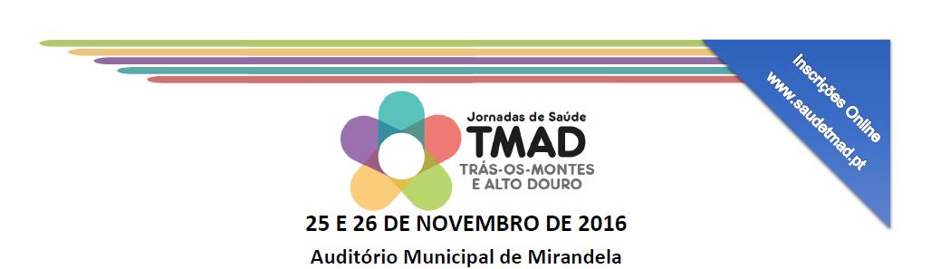 Banner: Jornadas de Saúde TMAD Trás-os-Montes e Alto Douro