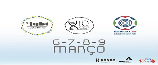 Banner: VI Jornadas Nacionais de Genética e Biotecnologia e II Encontro Nacional de Estudantes de Biotecnologia