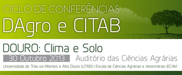 Banner: Conferência - DOURO: Clima e Solo