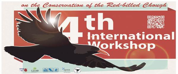 Banner: 4º Workshop Internacional para a Conservação da Gralha-de-bico-vermelho