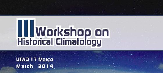 Banner: Workshop em Climatologia Histórica