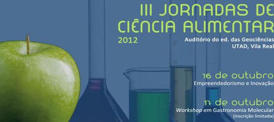 Banner: III Jornadas de Ciência Alimentar
