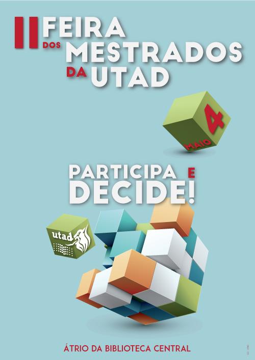 Cartaz: Feira dos Mestrados da UTAD
