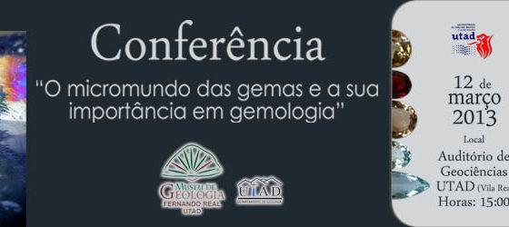 Banner: Conferência micromundo das gemas geo 2013