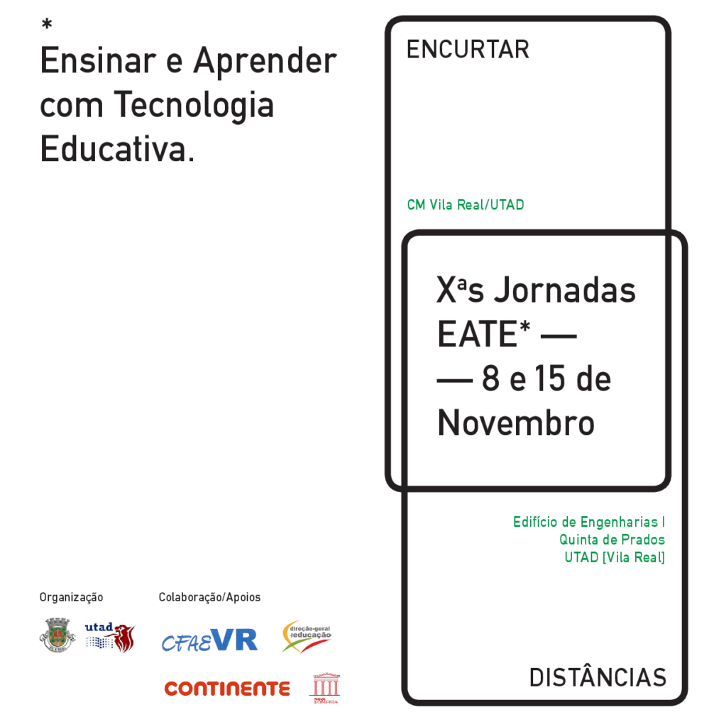 Cartaz: Ensinar e Aprender com Tecnologia Educativa
