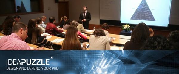 Banner: Seminário: Como desenhar e defender a sua tese de doutoramento com o software Idea Puzzle