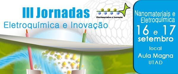 Banner: III Jornadas de Eletroquímica e Inovação