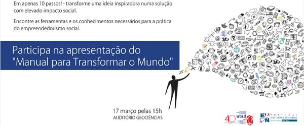 Banner: Apresentação: Manual para Transformar o Mundo