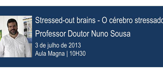 Banner: Stressed-out brains - O cérebro stressado