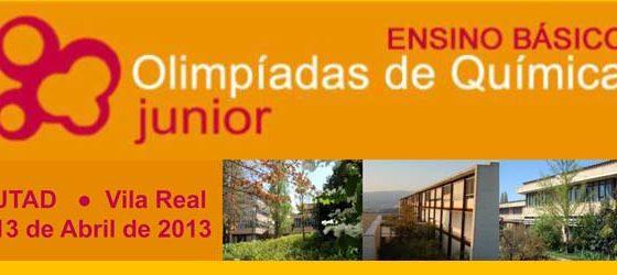 Banner: Semifinais das Olimpíadas de Química Júnior 2013