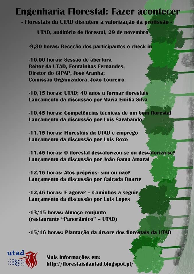 Cartaz: Engenharia Florestal: Fazer Acontecer