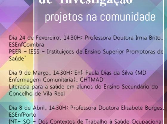 Cartaz: Projetos na comunidade - seminários de investigação