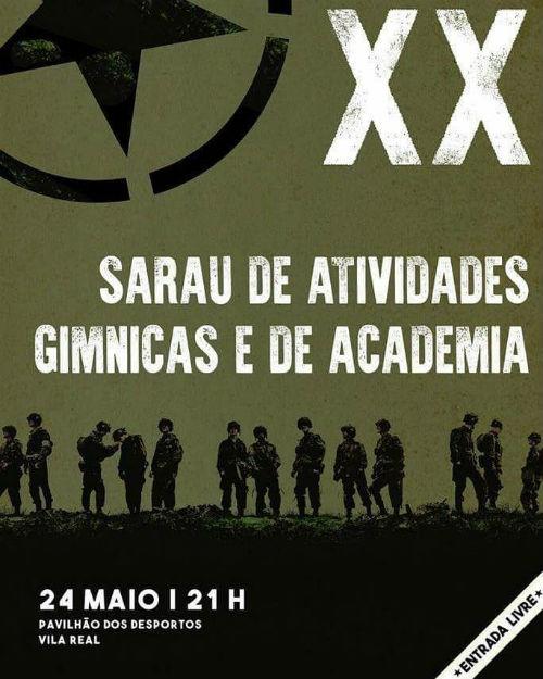 Cartaz: XX Sarau de Encerramento de Atividades Gímnicas e de Academia