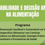 """Webinar  """"Sustentabilidade e Decisão Ambiental na Alimentação"""""""